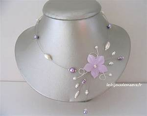 collier mariage parme fleur etoilee With robe mariage avec collier perle pas cher pour mariage