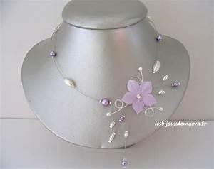 collier mariage parme fleur etoilee With bijoux fantaisie mariee