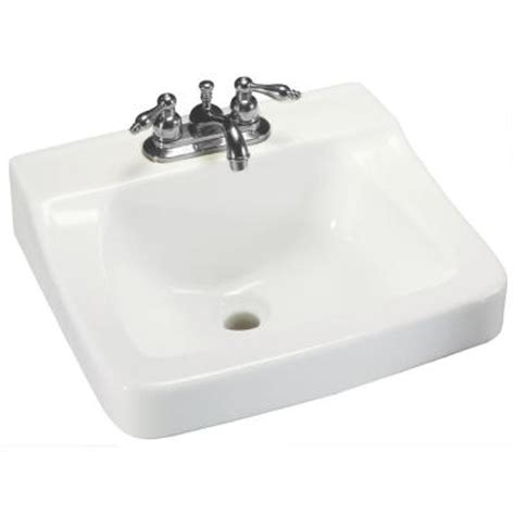 Glacier Bay Aragon Wall Mounted Bathroom Sink In White 13