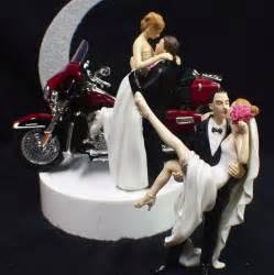 wedding cake topper w harley davidson motorcycle