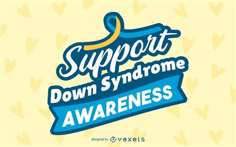 syndrome awareness lettering design vector