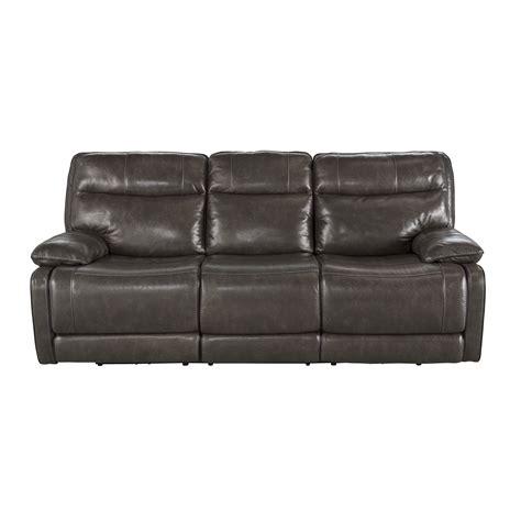signature design by ashley leather reclining sofa wayfair