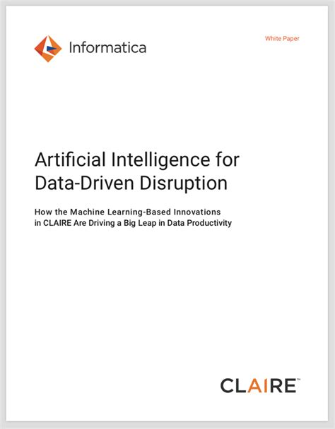 Informatica CLAIRE | Artificial Intelligence for Data
