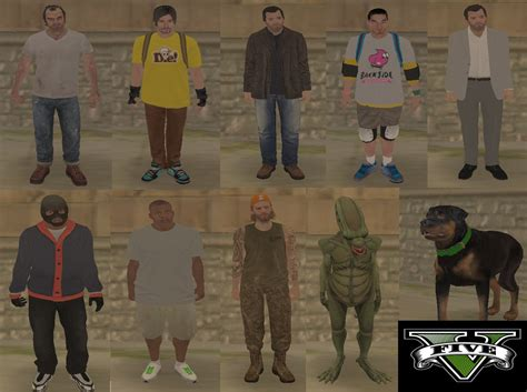 Gta-v Skin Pack To Gta-san Andreas (grand Theft Auto