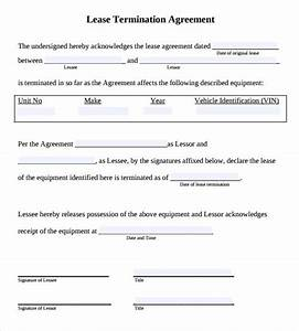 sample lease termination agreement free documents With template for termination of lease