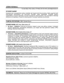 resume objective registered exle student resume free sle nursing school student