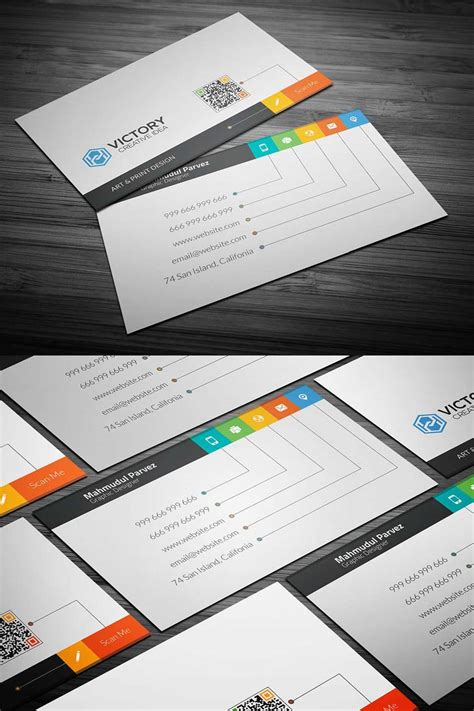 business card template psd 20 free printable templates for business cards
