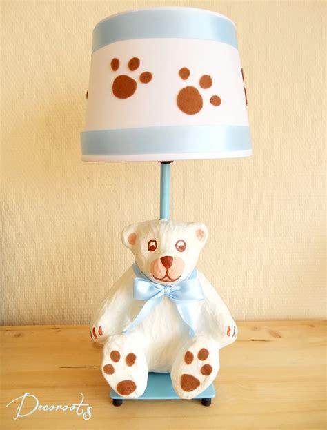 luminaire chambre fille le de chevet garçon enfant bébé ours polaire bleu