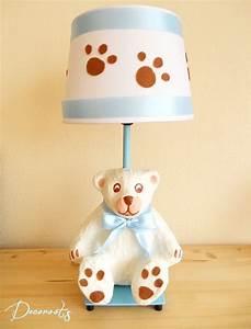 Lampe Chambre Garçon : lampe de chevet gar on enfant b b ours polaire bleu chocolat enfant b b luminaire enfant ~ Teatrodelosmanantiales.com Idées de Décoration