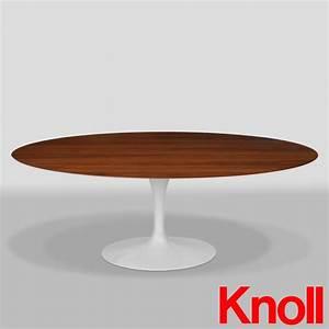 Knoll saarinen tisch oval 198 x 121 cm nuss midmodern for Knoll tisch