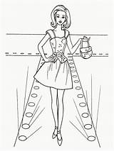 Coloring Pages Printable Print Sheets Barbie Atom Mannequin Getcolorings Toy sketch template