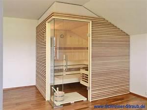 Elementsauna Selber Bauen : dachschr ge sauna schreiner straub wellness wohnen ~ Articles-book.com Haus und Dekorationen