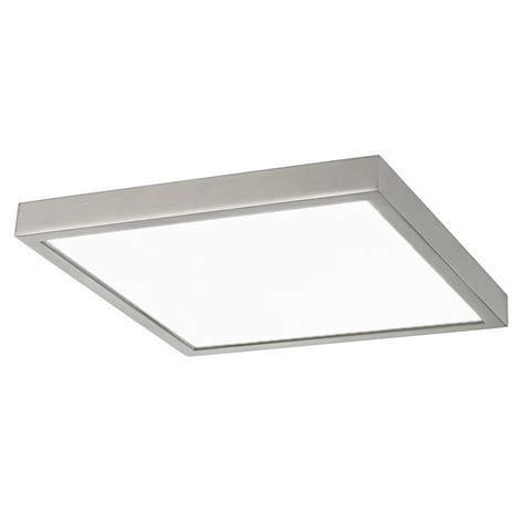 surface mount led lights flat led light surface mount 10 inch square satin nickel