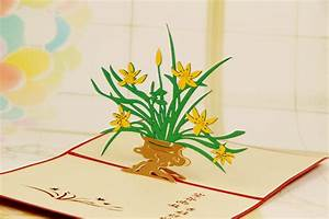 pop up birthday cards for mom - 3d new design animated orchid birthday greeting cards
