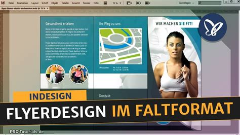 indesign tutorial flyerdesign im faltformat erstellen