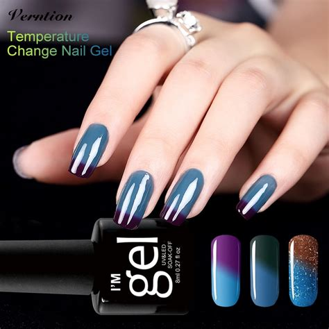 temperature color changing gel nail verntion temperature color changing led nail semi