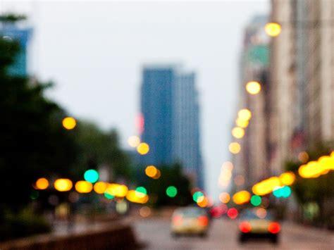 Blurry Nyc Street Lights