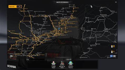eaa map brazil  trucks   ets mods euro