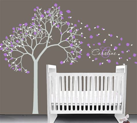 stickers pour chambre bébé fille items similar to baby nursery vinyl decal tree wall