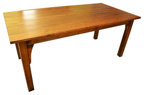 arts and crafts dining table crafters and weavers arts crafts style mission solid oak