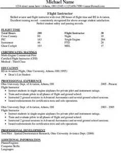 airline pilot resume sle pilot resume template