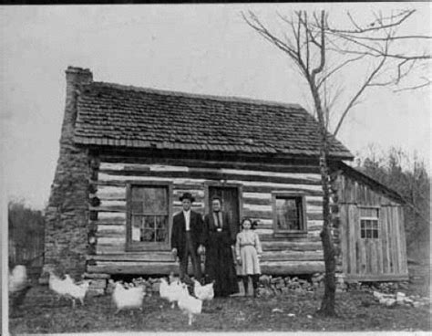 family  front   log cabin precious