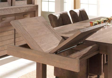 table de salle a manger carree avec rallonge table carr 233 e extensible table basse bois massif trendsetter