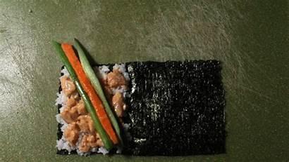 Roll Sushi Hand Tuna Rolling Spicy Gifs