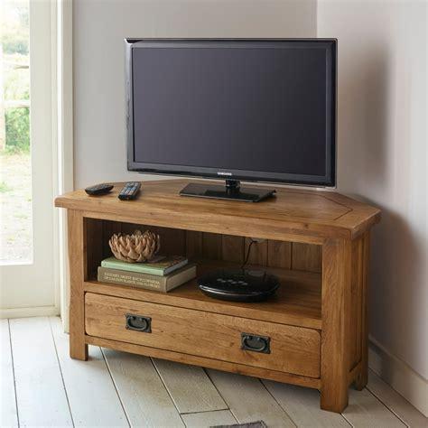 Rustic Oak Corner Tv Cabinet Quercus Living Original Rustic Corner Tv Cabinet In Solid Oak