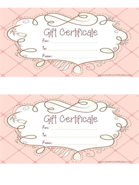 best 25 free printable gift certificates ideas on printable gift certificates gift