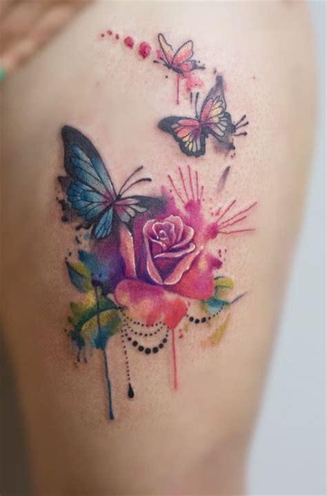 butterfly thigh tattoo ideas  pinterest