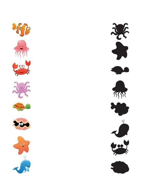 animals worksheets shadow matching 171 preschool and