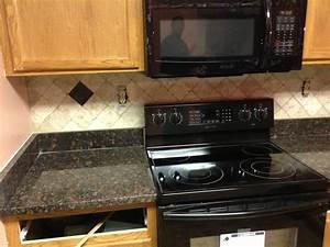 Donna S - Tan Brown Granite Kitchen Countertop w