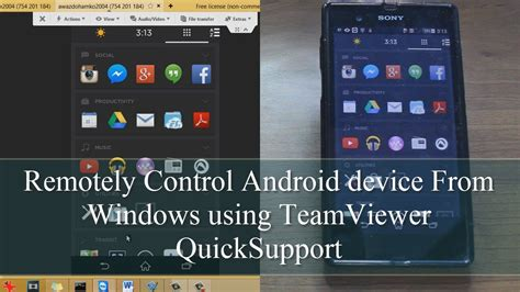 remotely android remotely android device from windows using