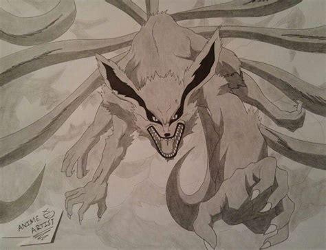 drawing kurama   tailed fox anime amino