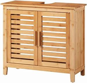 Waschbeckenunterschrank 90 Cm Breit : waschbeckenunterschrank bambus 67 cm breit otto ~ Indierocktalk.com Haus und Dekorationen