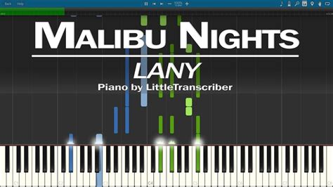 Malibu Nights (piano Cover) Synthesia Tutorial By