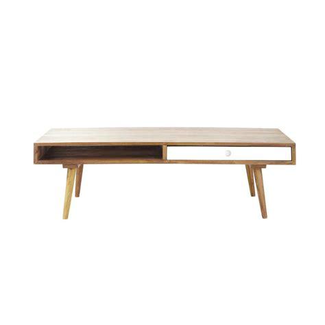 le de bureau maison du monde table basse vintage en bois de sheesham l 120 cm andersen