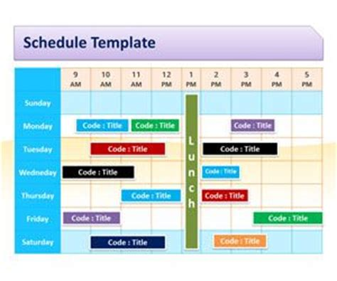 schedule powerpoint templates   powerpoint