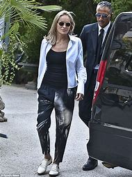 Sharon Stone Black Shift Dress
