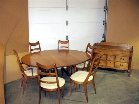 heywood wakefield buffet server 102 table w 6 chairs for