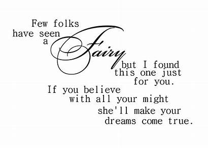 Fairy Word Quotes Birthday Fairies Dreams Sayings