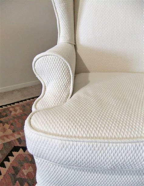 cotton matelasse slipcover for wing back chair by