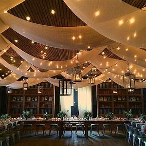25 best ideas about ceiling draping on pinterest With ceiling lights for wedding reception