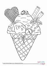 Colouring Ice Cream Coloring Pages Cone Sundae Activity Seaside Printable Drawing Village Getdrawings Sprinkles Getcolorings Become Member Log Whitesbelfast Activityvillage sketch template