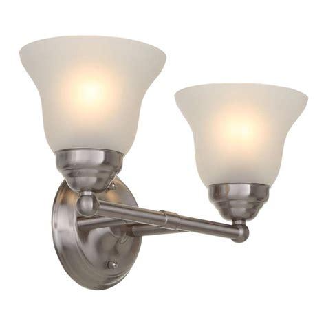 hton bay vanity light hton bay 2 light brushed nickel vanity light with