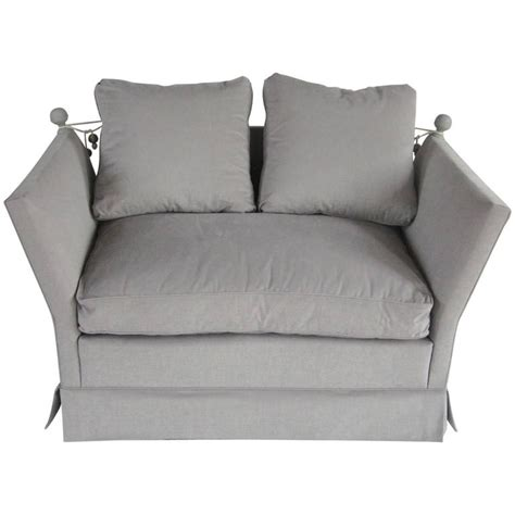 Knole Settee For Sale by Knole Style Grey Settee 1940s At 1stdibs