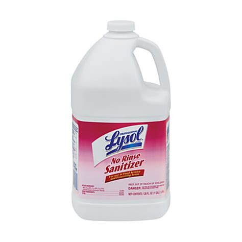 Vinclasse No Rinse Cleaner Sanitiser by Lysol Professional Concentrated No Rinse Sanitizer 1