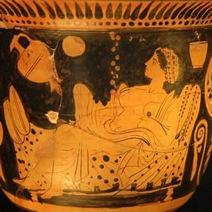 Danae riceve Zeus sotto forma di pioggia d'oro. cratere ...