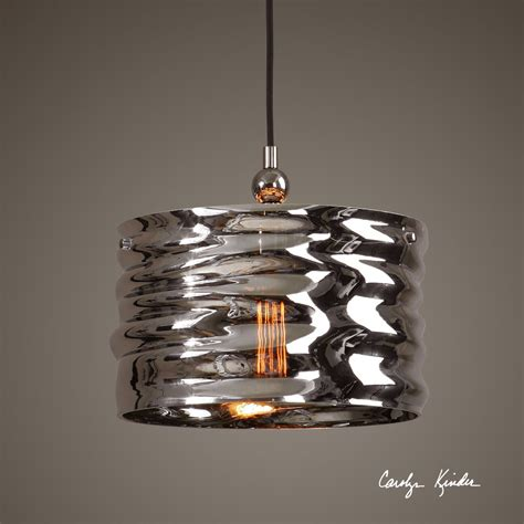 plated nickel blown glass hanging pendant ceiling